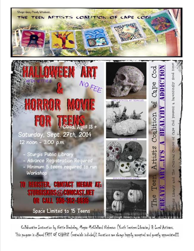 TAC 9-27-14 Halloween Art&Movie Promo